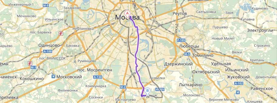 Как добраться из Москвы в Видное