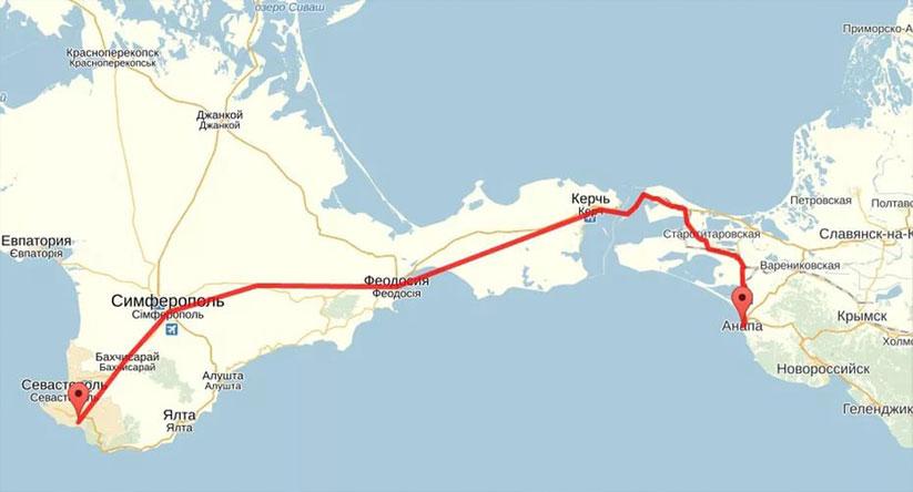 Как добраться до Крыма из Москвы