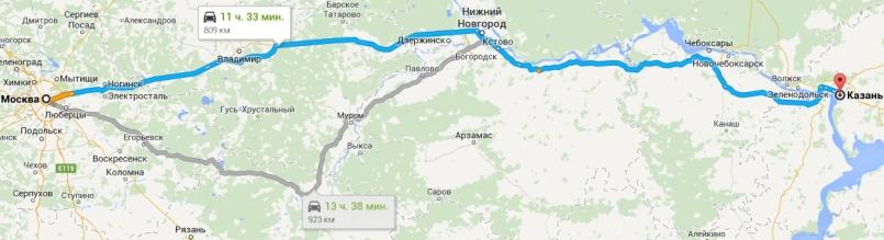 Как добраться до Казани из Москвы