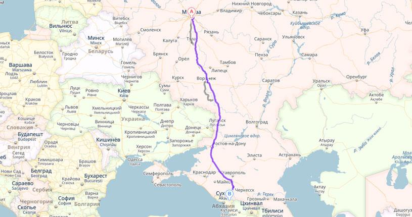 Как добраться из Москвы в Домбай